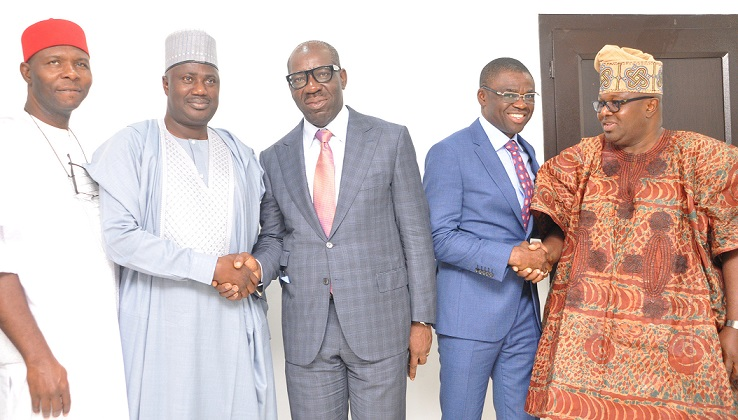 Edo Assembly: 7-man Senate committee visits Obaseki, commences work