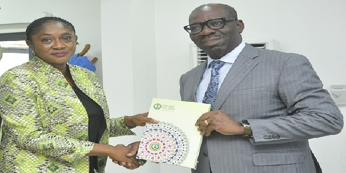 Obaseki receives Edo SDGs' 2018 Report, as office highlights achievements in Inter-Agency Relations, Capacity Building, Advocacy