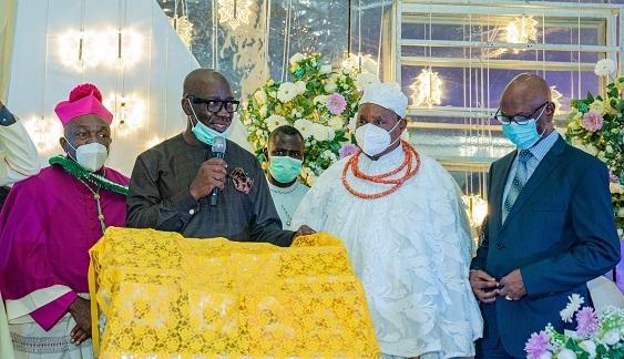 Obaseki hails Archbishop Akubeze, salutes contribution to state's devt