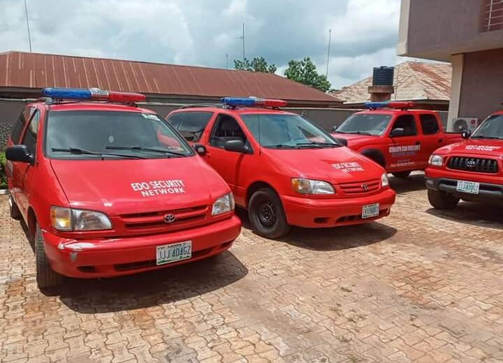 Obaseki launches vigilante network for Edo Central, hails donors of operational vehicles