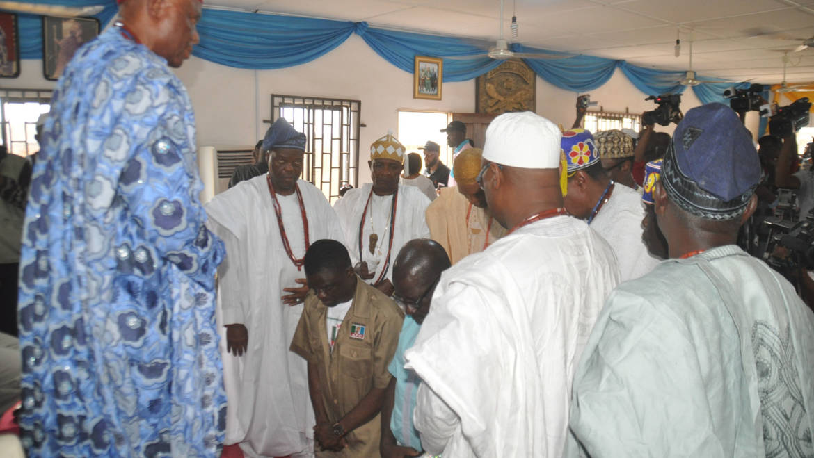 Your choice is our choice, royal fathers tell Oshiomhole