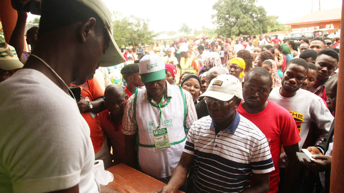 Oshiomhole votes, hails improved electoral process