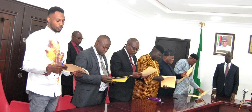 Obaseki inaugurates Edo Electoral Commission Board, harps on fair, credible elections