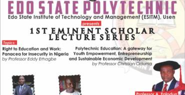 Edo Poly Usen hosts scholars for 1st eminent lecture series
